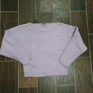 Forever 21 Lavender Off Shoulder Sweater